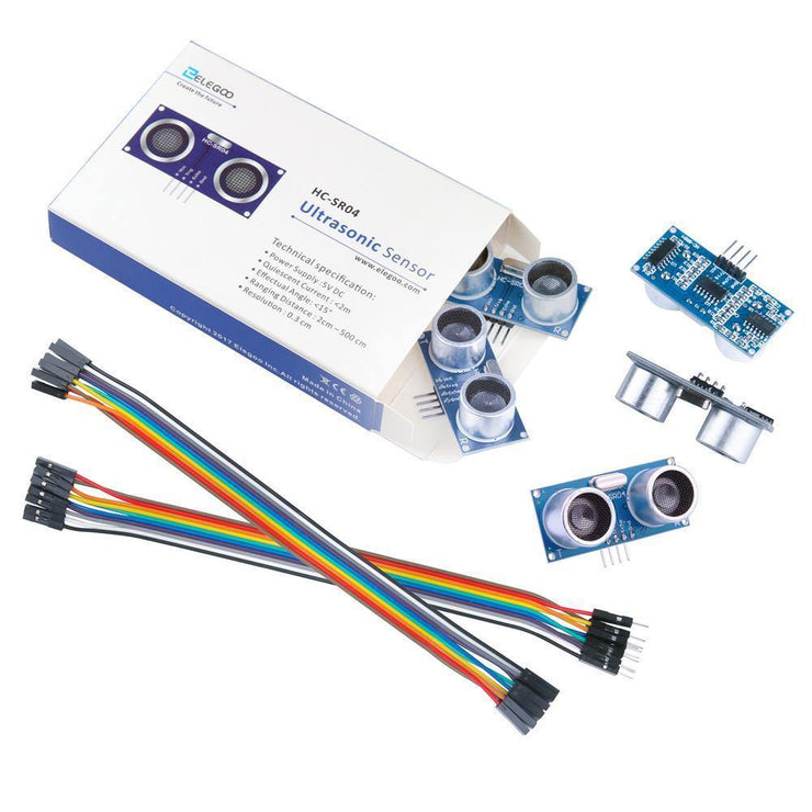 ELEGOO Ultrasonic Distance Sensor Module Kit (Pack of 5, HC-SR04) Arduino STEM Kits elegoo-shop