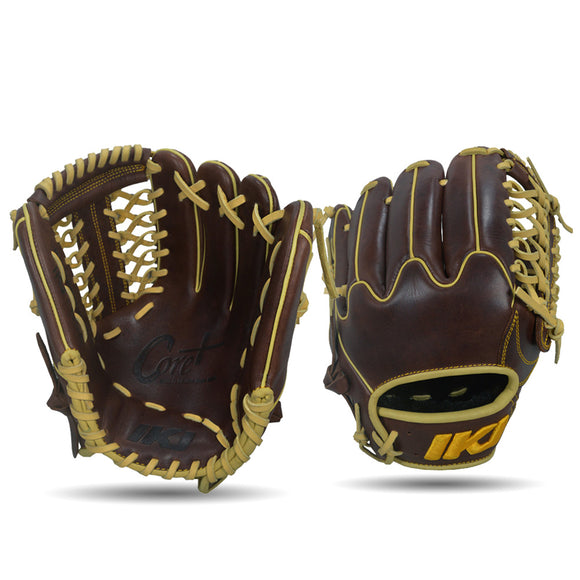 IKJ Core+ Series 11.75 INCH Crown Model INFIELD/PITCHER Baseball Glove in Dark Brown for RIGHT-HANDED Thrower