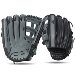 IKJ Core+ Series 12.75 INCH Double Welt Model OUTFIELD Baseball Glove in Gray and Black for LEFT-HANDED Thrower
