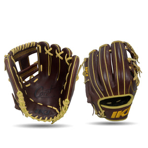 IKJ Core+ Series 11.5 INCH Double Welt Model INFIELD Baseball Glove in Dark Brown for RIGHT-HANDED Thrower