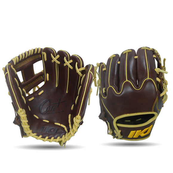IKJ Core+ Series 11.5 INCH Crown Model INFIELD Baseball Glove in Dark Brown for RIGHT-HANDED Thrower
