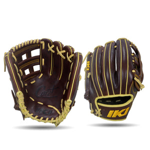 IKJ Core+ Series 11.75 INCH Double Welt Model INFIELD Baseball Glove in Dark Brown for RIGHT-HANDED Thrower