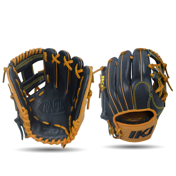 IKJ Rapid Series 11.5 INCH Single Welt Model INFIELD Baseball Glove in Black and Tan for RIGHT-HANDED Thrower