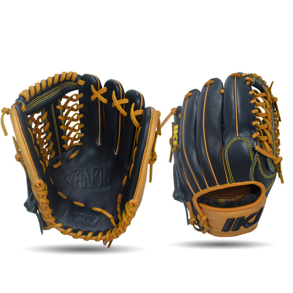 IKJ Rapid Series 11.75 INCH Single Welt Model INFIELD Baseball Glove in Black and Tan for RIGHT-HANDED Thrower