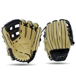 IKJ Xpro Series 11.75 INCH Double Welt Model INFIELD Baseball Glove in Straw and Black for RIGHT-HANDED Thrower