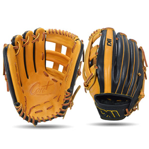 IKJ Core+ Series 12.75 INCH Double Welt Model OUTFIELD Baseball Glove in Horween Tan and Black for LEFT-HANDED Thrower