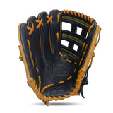 IKJ Rapid Series 12.75 INCH Single Welt Model OUTFIELD Baseball Glove in Black and Tan for LEFT-HANDED Thrower