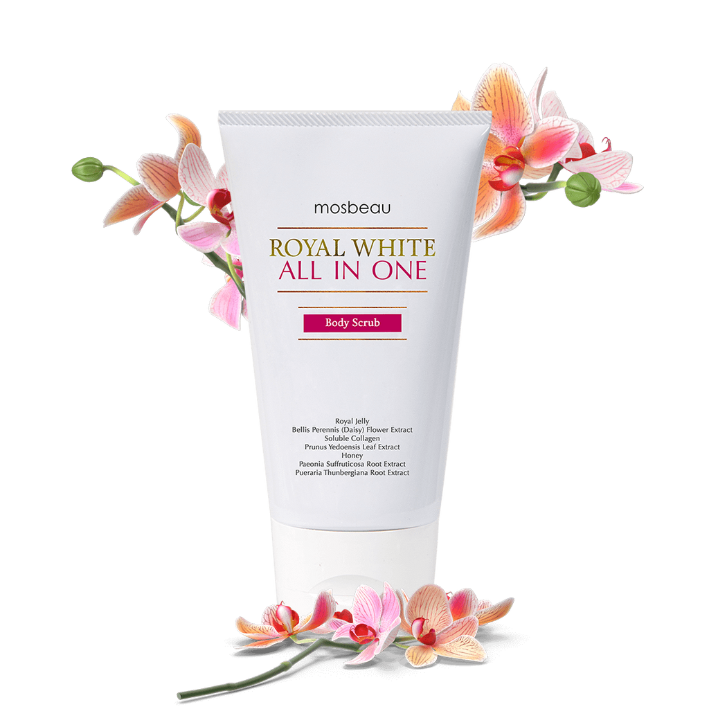 Royal white body scrub
