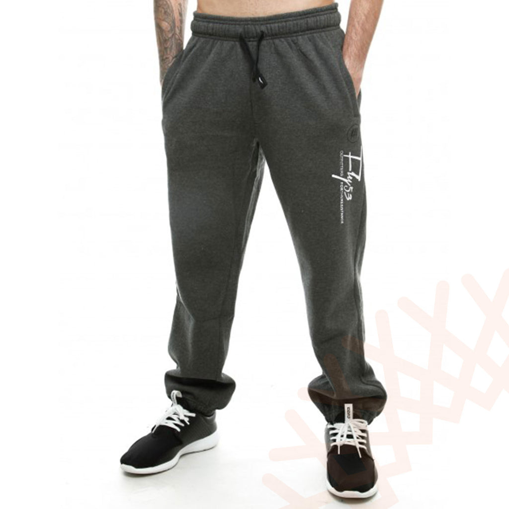 Fly53 Mens Fleece Fitted Tracksuit Bottoms Joggers Sweatpants Rotherite