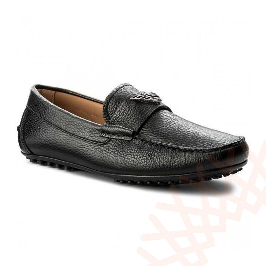 Armani Popular Moccasins Men Black Loafers