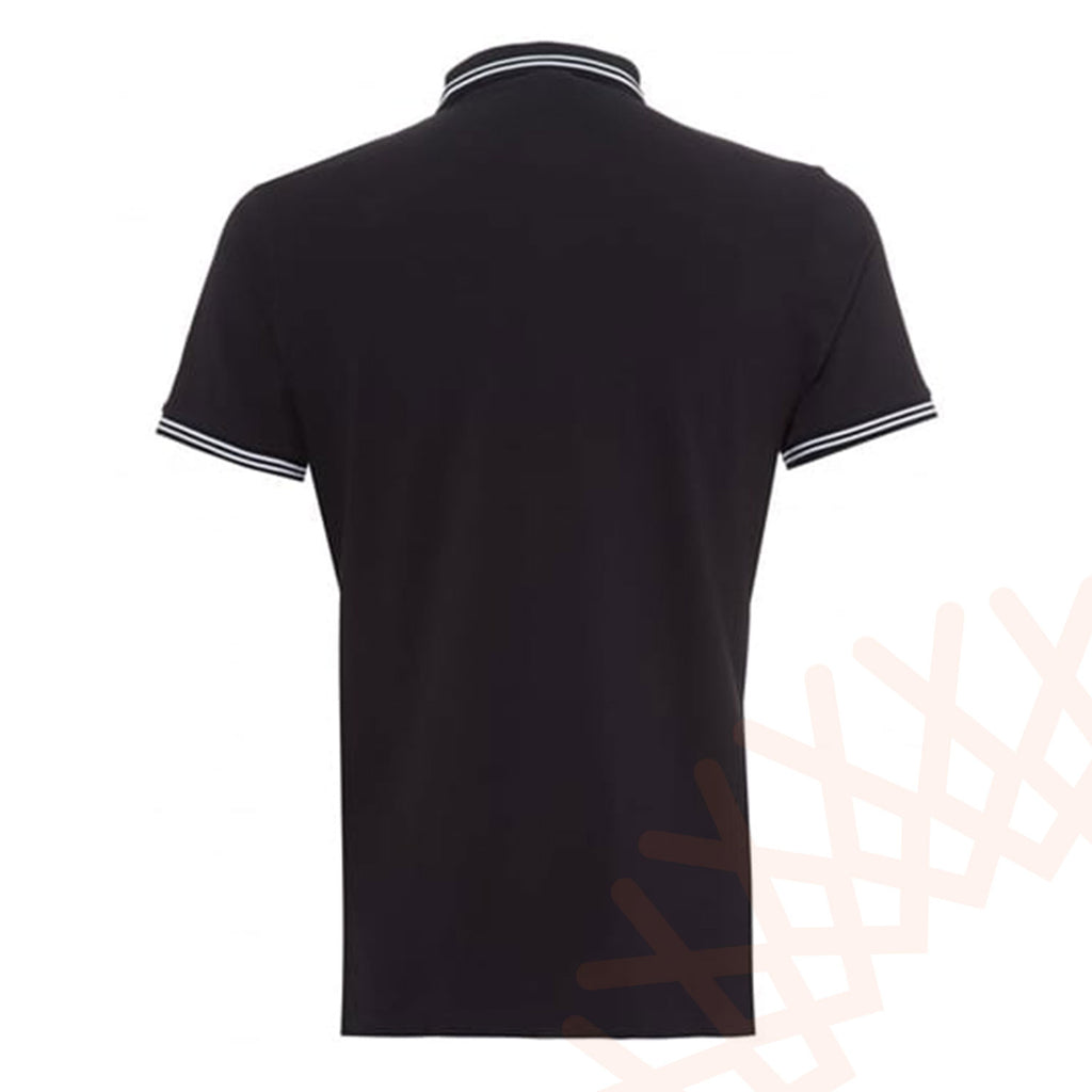 Emporio Armani Black Stretch Short Sleeve Polo T-Shirt