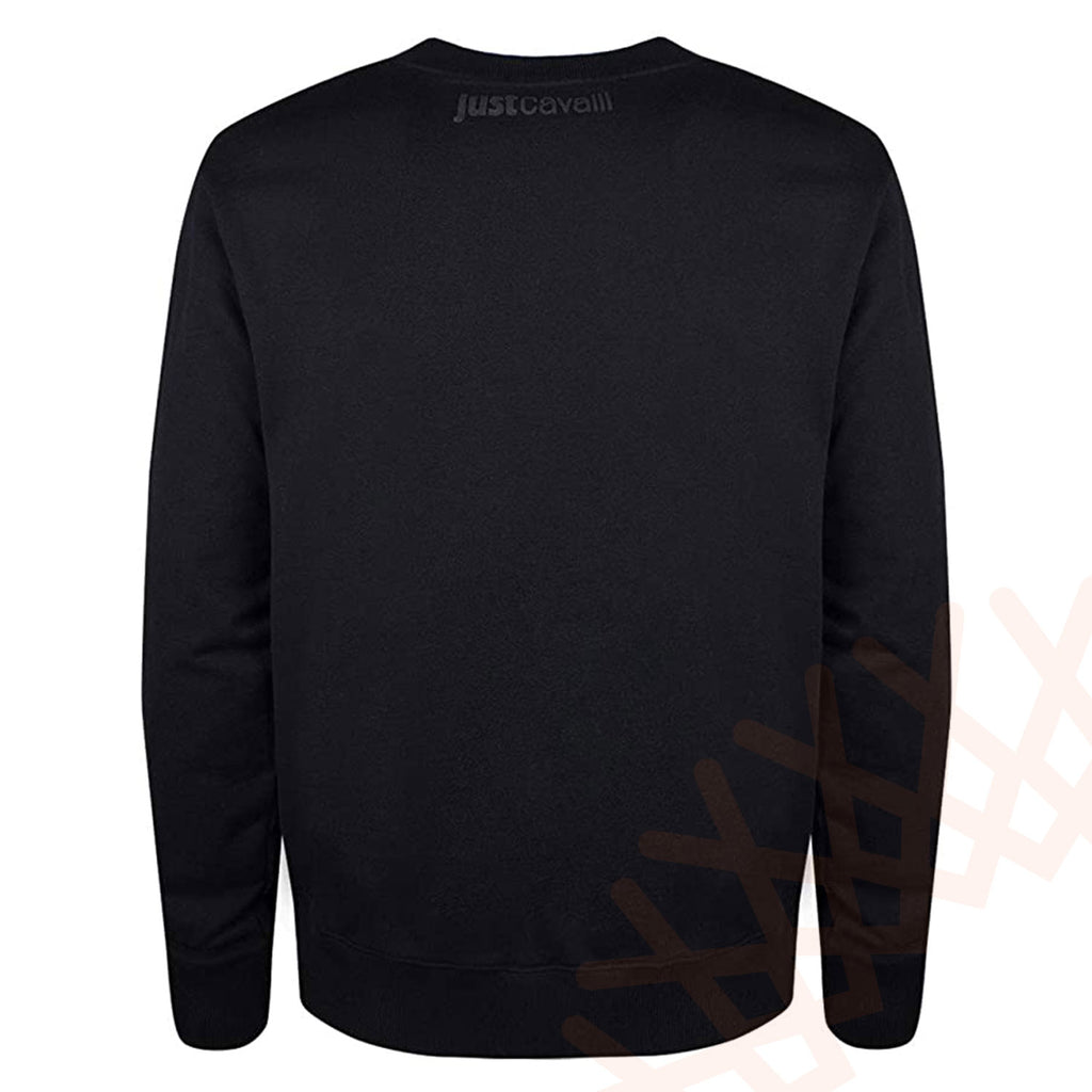 Just Cavalli Men's Black Sweatshirt Regular Fit