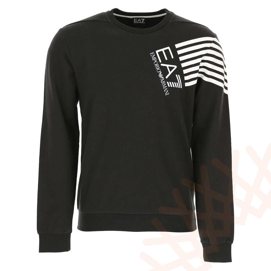 EA7 Emporio Armani Cotton Crew Neck Black