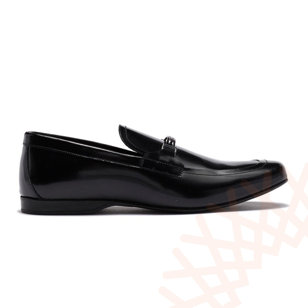 Versace Textured Leather Loafers Men Shoes