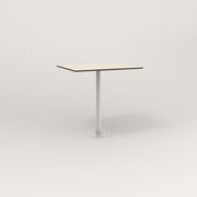 RAD Cafe Table, Rectangular 2 Top Bolt Down Base in hpl and white powder coat.