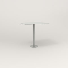 RAD Cafe Table, Rectangular 2 Top Bolt Down Base in aluminum and grey powder coat.