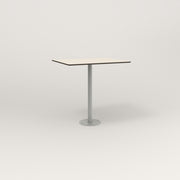 RAD Cafe Table, Rectangular 2 Top Bolt Down Base in hpl and grey powder coat.