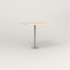 RAD Cafe Table, Rectangular 2 Top Bolt Down Base in solid ash and grey powder coat.