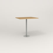 RAD Cafe Table, Rectangular 2 Top Bolt Down Base in white oak europly and grey powder coat.