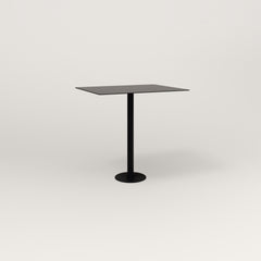 RAD Cafe Table, Rectangular 2 Top Bolt Down Base in aluminum and black powder coat.