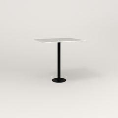 RAD Cafe Table, Rectangular 2 Top Bolt Down Base in acrylic and black powder coat.