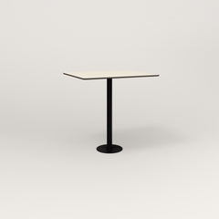 RAD Cafe Table, Rectangular 2 Top Bolt Down Base in hpl and black powder coat.