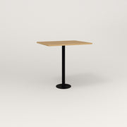 RAD Cafe Table, Rectangular 2 Top Bolt Down Base in white oak europly and black powder coat.
