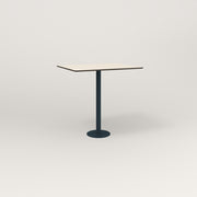 RAD Cafe Table, Rectangular 2 Top Bolt Down Base in hpl and navy powder coat.