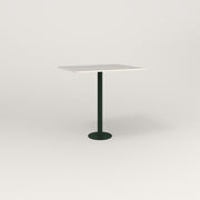 RAD Cafe Table, Rectangular 2 Top Bolt Down Base in acrylic and fir green powder coat.
