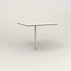 RAD Cafe Table, Rectangular 4 Top Bolt Down Base in hpl and off-white powder coat.