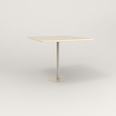 RAD Cafe Table, Rectangular 4 Top Bolt Down Base in solid ash and off-white powder coat.