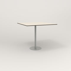 RAD Cafe Table, Rectangular 4 Top Bolt Down Base in hpl and grey powder coat.