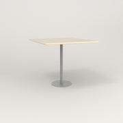 RAD Cafe Table, Rectangular 4 Top Bolt Down Base in solid ash and grey powder coat.