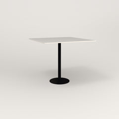 RAD Cafe Table, Rectangular 4 Top Bolt Down Base in acrylic and black powder coat.
