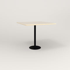 RAD Cafe Table, Rectangular 4 Top Bolt Down Base in solid ash and black powder coat.
