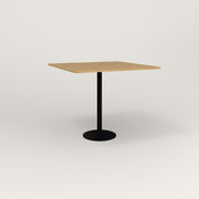 RAD Cafe Table, Rectangular 4 Top Bolt Down Base in white oak europly and black powder coat.