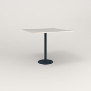 RAD Cafe Table, Rectangular 4 Top Bolt Down Base in acrylic and navy powder coat.