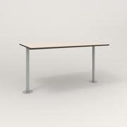 RAD Cafe Table, Rectangular Bolt Down Base T Leg in hpl and grey powder coat.
