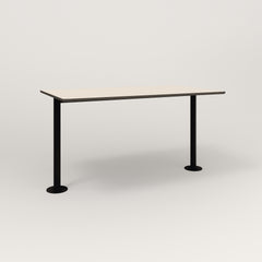 RAD Cafe Table, Rectangular Bolt Down Base T Leg in hpl and black powder coat.