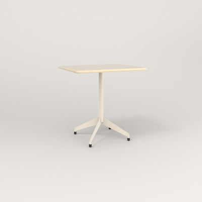 RAD Cafe Table, Rectangular 2 Top Flat Four Point Base in solid ash and off-white powder coat.