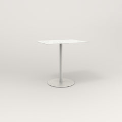 RAD Cafe Table, Rectangular 2 Top Weighted Base in aluminum and white powder coat.