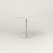 RAD Cafe Table, Rectangular 2 Top Weighted Base in solid ash and white powder coat.