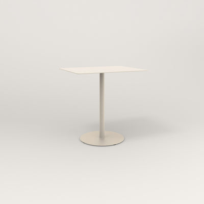RAD Cafe Table, Rectangular 2 Top Weighted Base in aluminum and off-white powder coat.