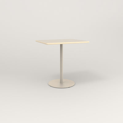 RAD Cafe Table, Rectangular 2 Top Weighted Base in solid ash and off-white powder coat.