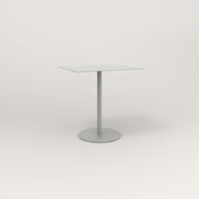 RAD Cafe Table, Rectangular 2 Top Weighted Base in aluminum and grey powder coat.