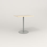RAD Cafe Table, Rectangular 2 Top Weighted Base in solid ash and grey powder coat.