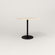 RAD Cafe Table, Rectangular 2 Top Weighted Base in solid ash and black powder coat.