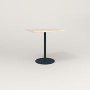 RAD Cafe Table, Rectangular 2 Top Weighted Base in solid ash and navy powder coat.
