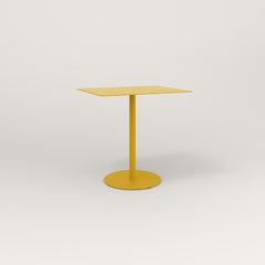 RAD Cafe Table, Rectangular 2 Top Weighted Base in aluminum and yellow powder coat.
