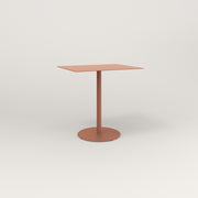 RAD Cafe Table, Rectangular 2 Top Weighted Base in aluminum and coral powder coat.
